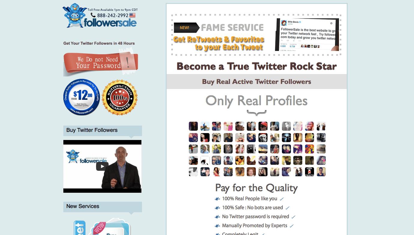 FollowerSale-Homepage