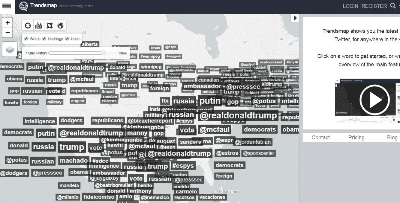 trendsmap trending tweets example