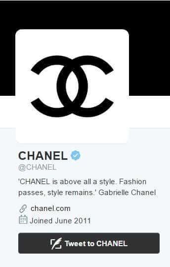 Chanel twitter