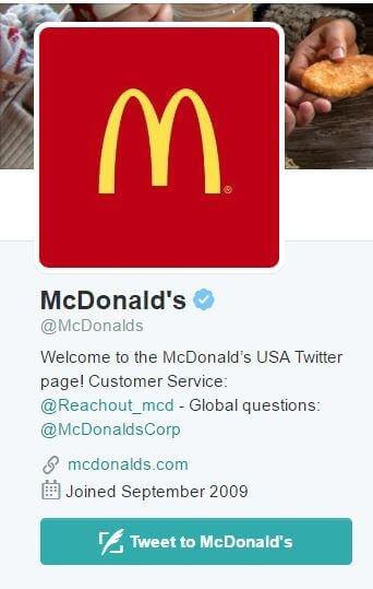 McDonalds Twitter