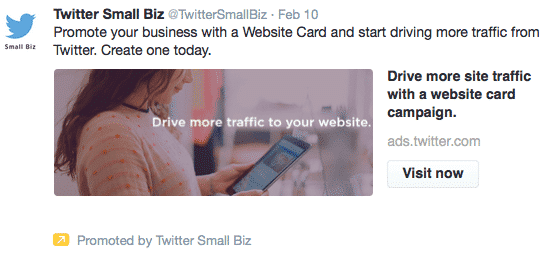 twitter promoted tweet example