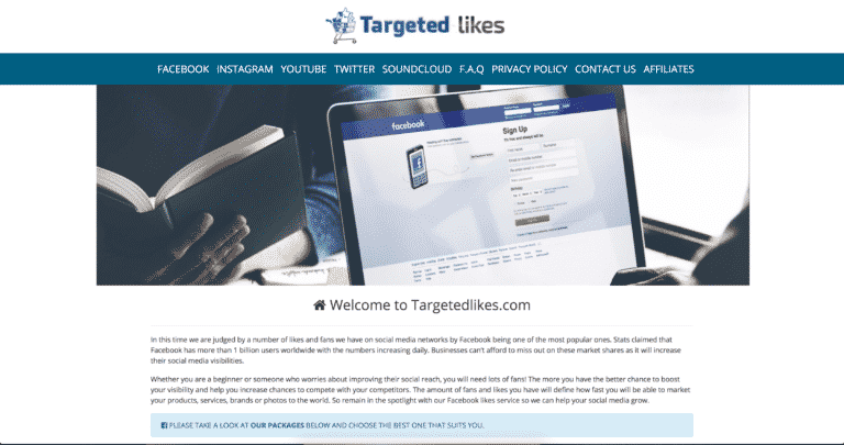 TL landing page
