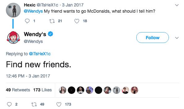 funniest brands on twitter wendy's