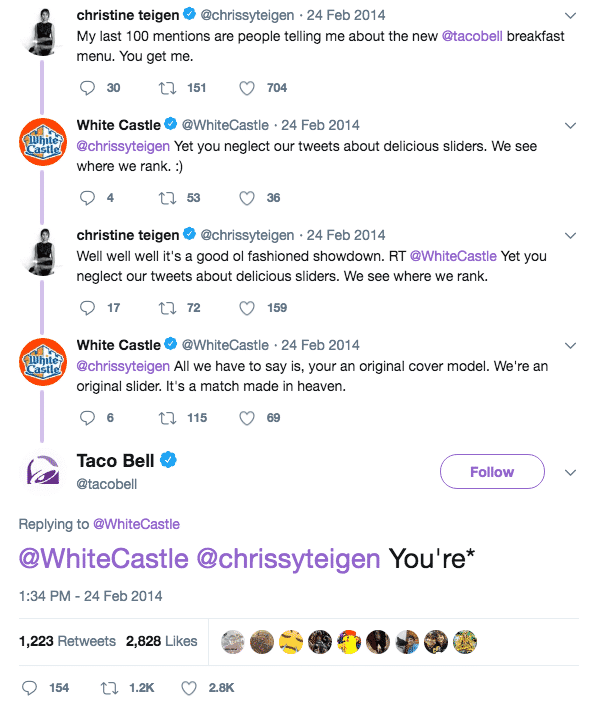 funny brands on twitter taco bell