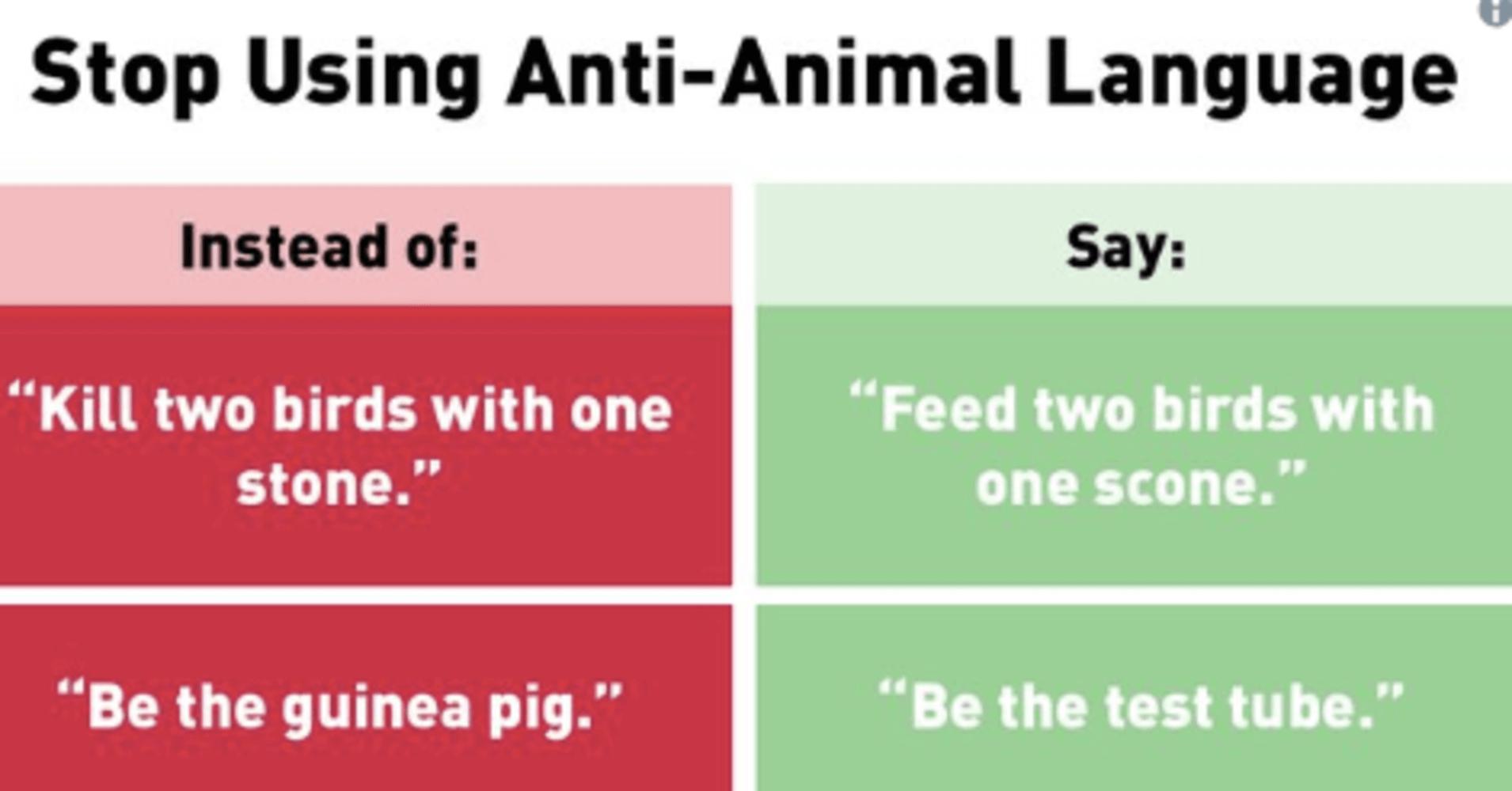 PETA Gets Roasted on Twitter After Tweets on 'Anti-Animal Language'