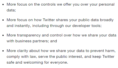 TweetDeck privacy policy