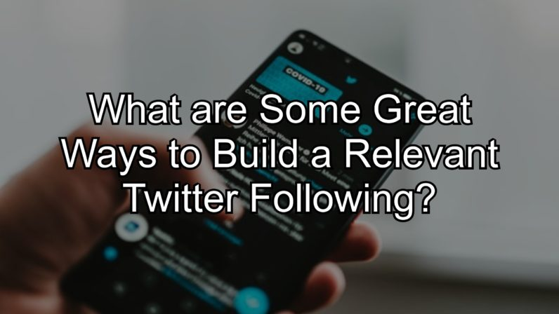 What are Some Great Ways to Build a Relevant Twitter Following?